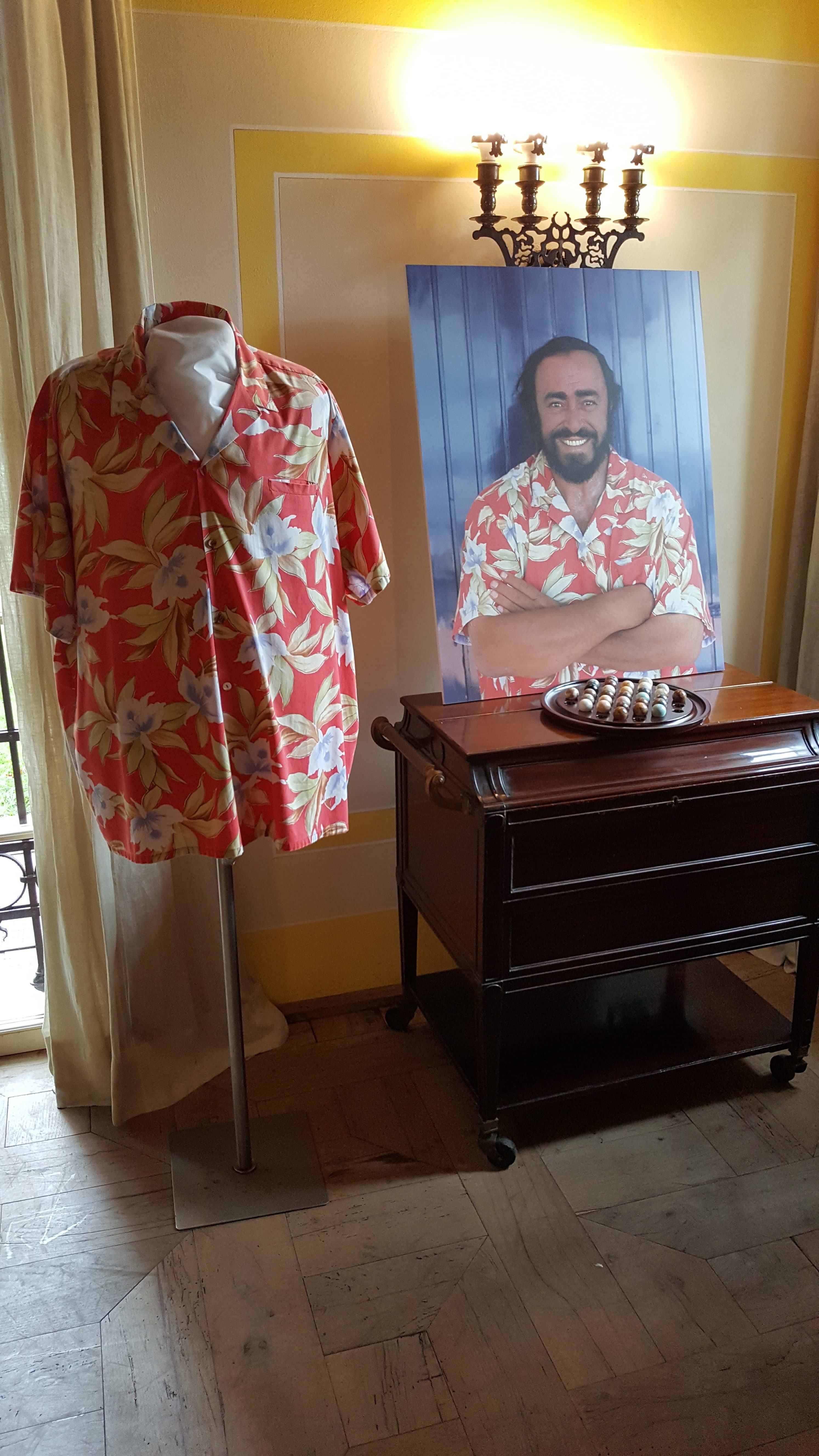 Luciano's flowered shirts