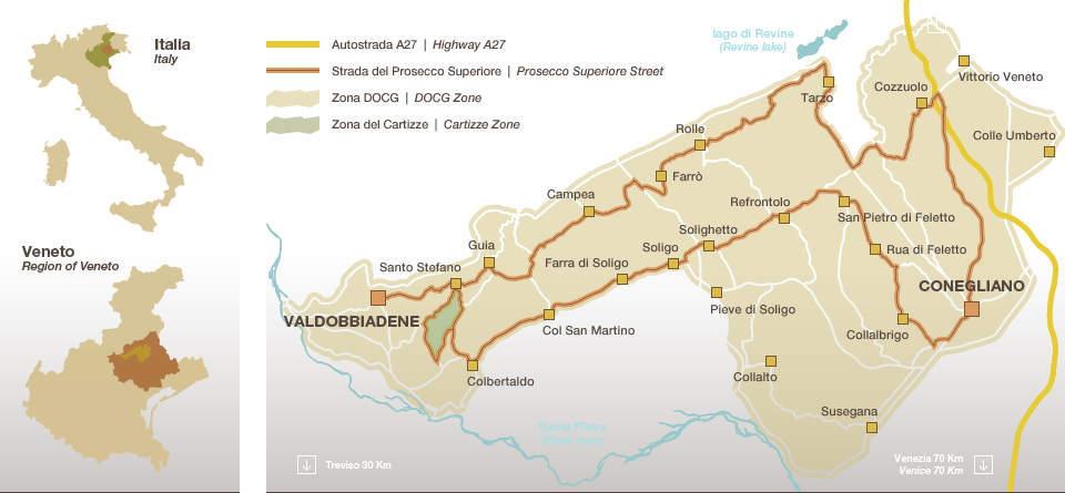 Map of DOCG area