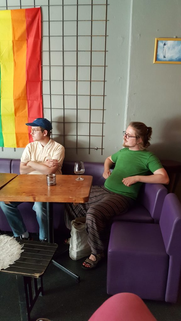 Hipsters in the cafe